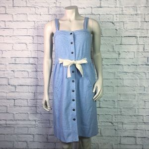 eb886de3e0b1 Anthropologie Allihop Sleeveless Blue Dress Small